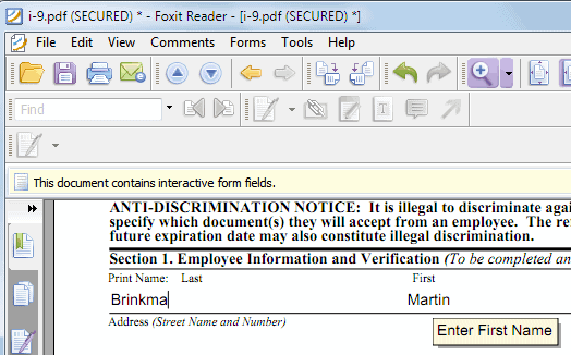 how can i fill in a pdf application form