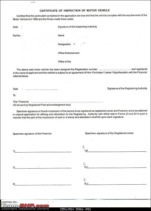 application to transfer a vehicle registration number