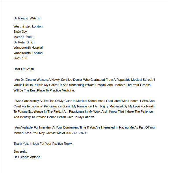 generic cover letter for job application