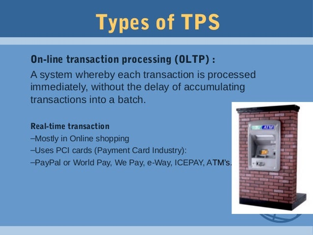 application of transaction processing system