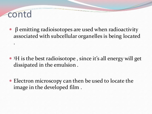 application of radioisotopes in biology