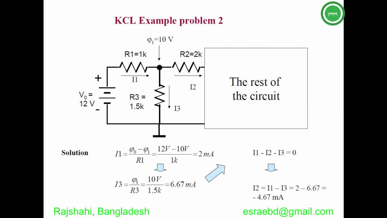 application of kcl with example
