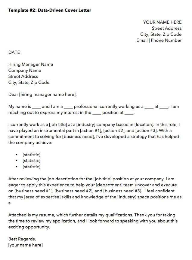 best email cover letter for job application