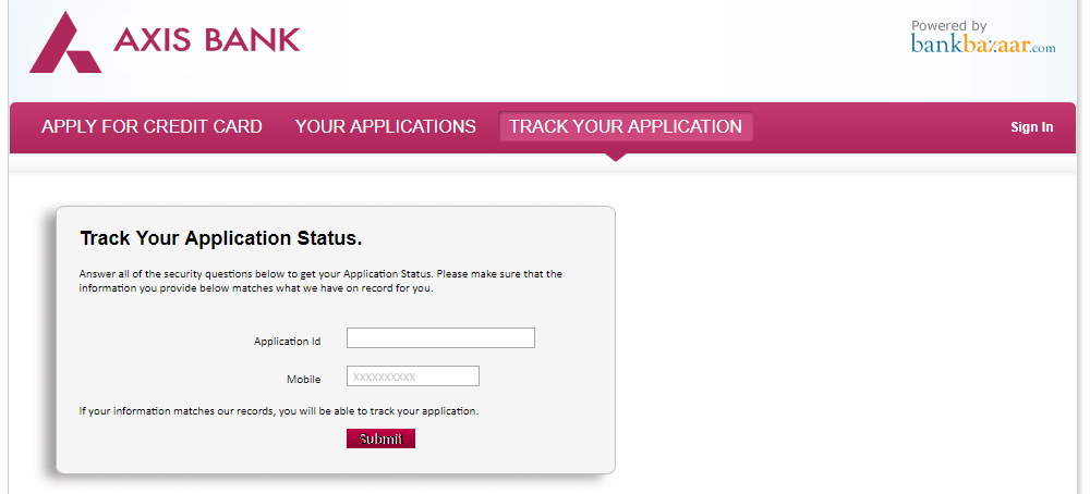 how to track icici credit card application status