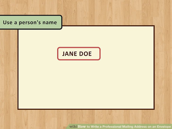 how to write address on envelope for job application