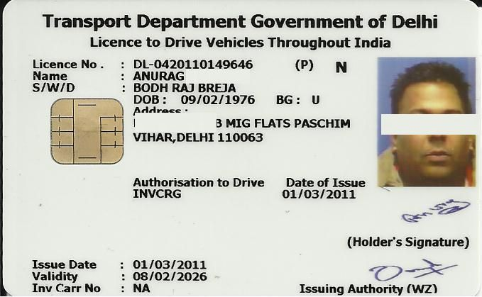 international driving license application form